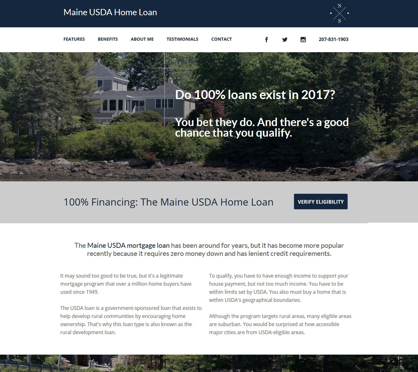 Maine USDA Home Loan